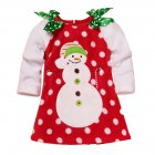 Children Girls Lovely Dot Dress with Double Shouder Bowknot as Birthday Christmas Party Dress Skirt