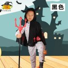 Children Halloween Costumes Ox Horn Devil Cloak Cute Cosplay Costume black