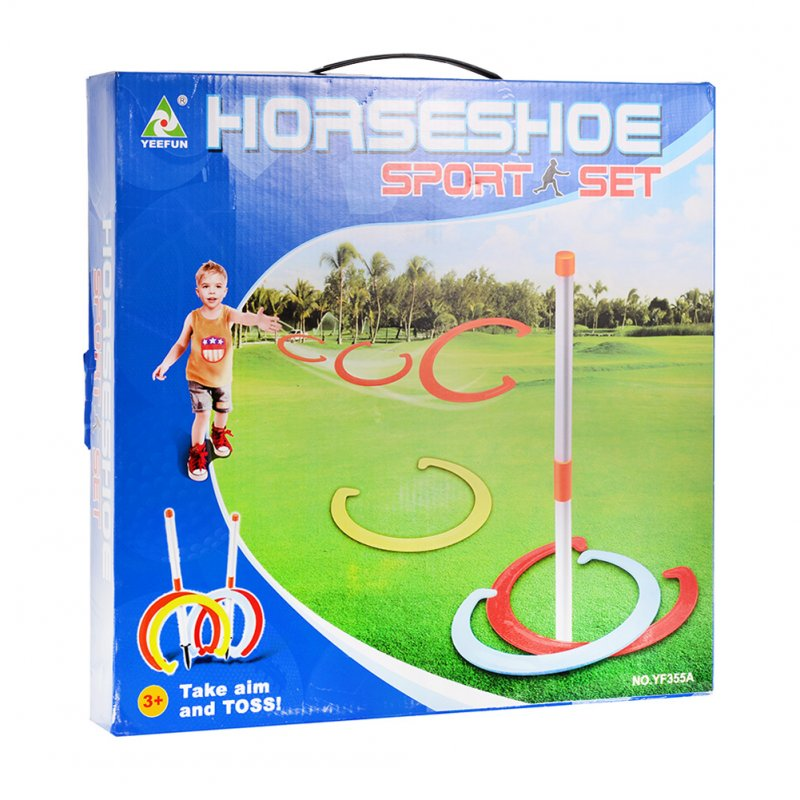 [US Direct] Children Horseshoe Play Set Toss Games Sports Toys