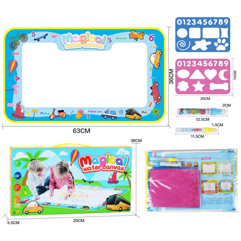 Children Large Magic Water Canvas Toy 68*38 Traffic theme (OPP bag)