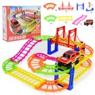 Children Parking Toy Double Layer Rail Parent-child Interaction Gift Boy Toys As shown