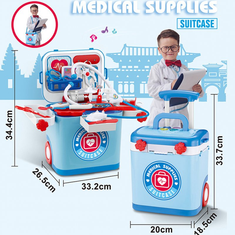 Children Playing House Supplies BBQ Makeup Medical Repair Tools Suitcase Luggage Toys