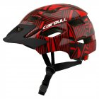 Children Protective Helmet Mountain Road Bike Wheel Balance Scooter Safety Helmet with Tail Light Black red_S-M (50-57CM)