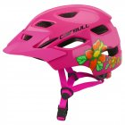 Children Protective Helmet Mountain Road Bike Wheel Balance Scooter Safety Helmet with Tail Light Pink_S-M (50-57CM)