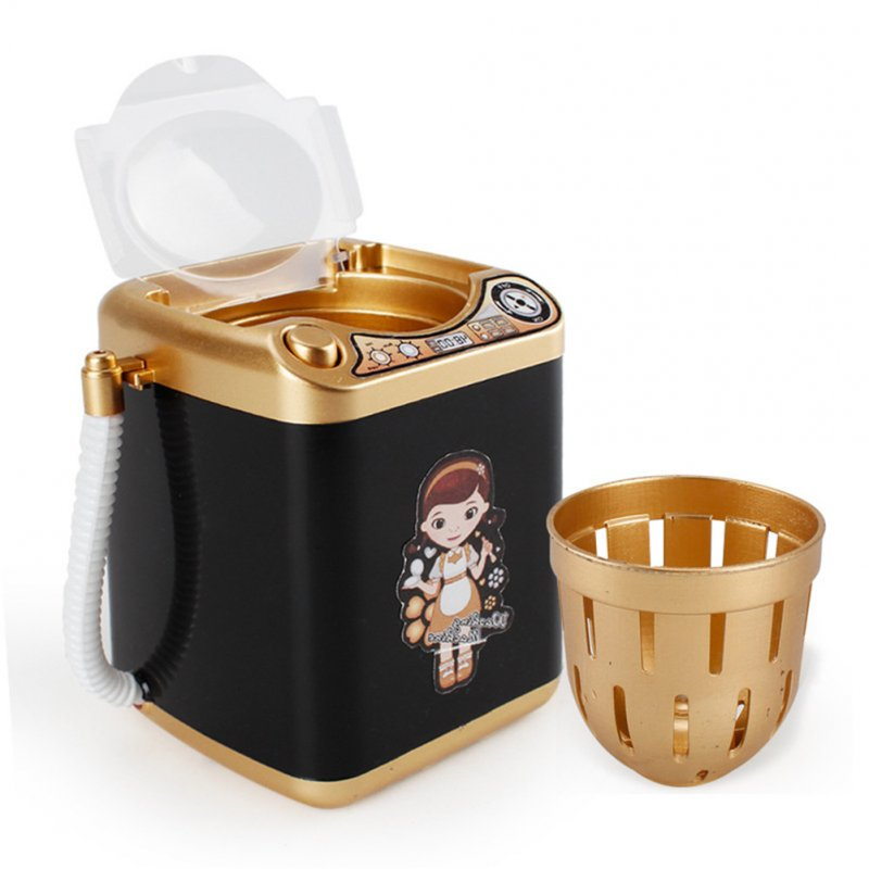 Children Simulated Mini Appliances Drain Basket Washing Machine Children Electric Toys black