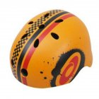Children Skateboard Helmet Skating Stunt Bike Crash Protective Safety Helmet CE Authentication Exquisite Applique Style Black orange red_XXL