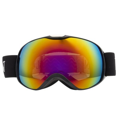 Children Ski Goggles Dual Layer Anti-fog Skiing Mask Glasses Snowboard Skating Windproof Sunglasses Skiing Goggles Bright black