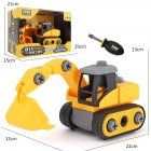 Children Take Apart Construction Educational DIY Engineering Vehicle Toys Gifts for Kids Excavation vehicle