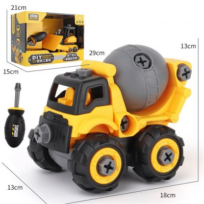 Children Take Apart Construction Educational DIY Engineering Vehicle Toys Gifts for Kids Mixer