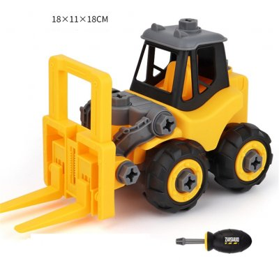 Children Take Apart Construction Educational DIY Engineering Vehicle Toys Gifts for Kids Forklift (forklift)