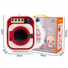 Children  Washing  Machine  Toy  Set Electric Mini Drum Rotate Kinetic Energy Simulation Appliances Portable color box