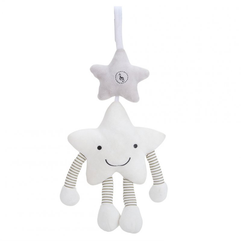 Children White Star Music Wind Bell Pendant Hanging Bed Accompanying Toys for Kids