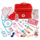 Children Wooden Simulation Bag Medicine Box Pretend Game Simulation Doctor Injection Toy  New little doctor