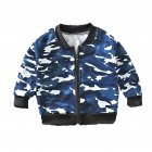 Children's Coat Long-sleeve Baseball Uniform for 0-4 Years Old Kids Camouflage_90cm