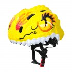 Children's Helmets 3d Animal Adjustable Breathable Hole Safety Helmet For Bicycle Scooter Various Sports yellow_One size