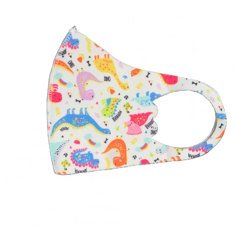 Children's Mask Dust Proof Breathable Washable Cartoon Print Hanging Ear Type Mask Dinosaur_Packaging-already replaced