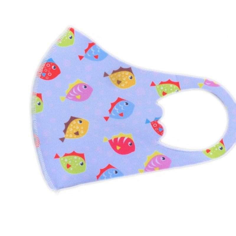 Children's Mask Dust Proof Breathable Washable Cartoon Print Hanging Ear Type Mask Little fish_Packaging-already replaced