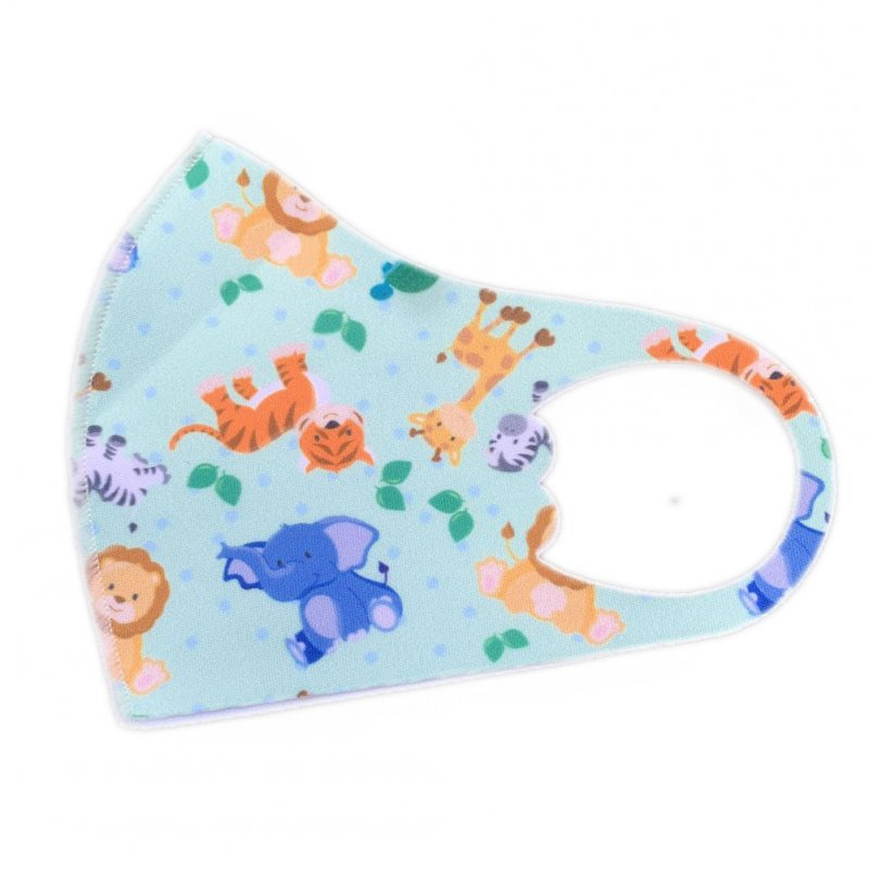 Children's Mask Dust Proof Breathable Washable Cartoon Print Hanging Ear Type Mask Elephant_Packaging-already replaced