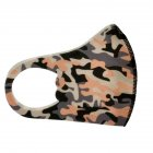 Children's Mask Dust Proof and Washable Hanging Ear Type Camouflage Masks Camouflage Orange_Fine packaging