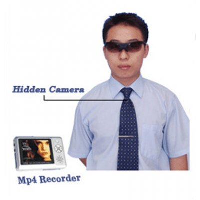 Tie Camera with MP4 Player 512MB, 2.5-inch LCD, 1.3M Pixel