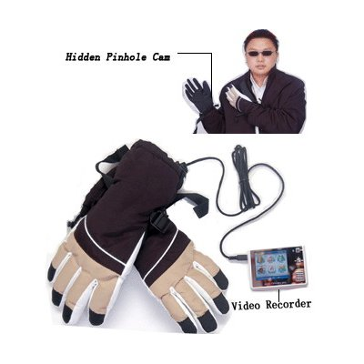 Gloves Hidden Camera With 256MB Flash Mp4 Recorder