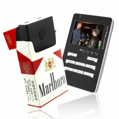 Cigarette Box Camera + Wireless Receiver / Recorder