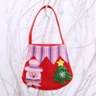 Christmas Candy Bag Ornaments Colorful Cute Gift Bags Portable Christmas Handbag Wedding Party Home Decoration