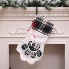 Christmas Cat Dog Claw Shape Large Sock Decoration Sock Tree Hanging Decoration Gift Bag