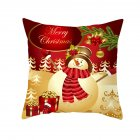Christmas Cushion Cover 45 45 Red Merry Christmas Printed Polyester Decorative Pillows Sofa Decoration 26