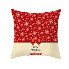 Christmas Cushion Cover 45 45 Red Merry Christmas Printed Polyester Decorative Pillows Sofa Decoration 35