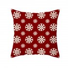 Christmas Cushion Cover 45*45 Red Merry Christmas Printed Polyester Decorative Pillows Sofa Decoration 40