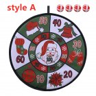 Christmas Dart Plate Set Decorative Toy Children Holiday Gifts Indoor Festival Party Accessories A