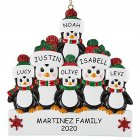 Christmas Decoration Penguin Hanging Ornament Pendant for DIY Name Family Blessings  Six penguins