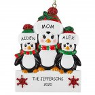 Christmas Decoration Penguin Hanging Ornament Pendant for DIY Name Family Blessings  Three penguins