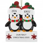 Christmas Decoration Penguin Hanging Ornament Pendant for DIY Name Family Blessings  Two penguins