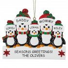 Christmas Decoration Penguin Hanging Ornament Pendant for DIY Name Family Blessings  Five penguins