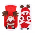 Christmas Dog Clothes Cosplay Winter Santa Elk Coat Clothing Pet Hoodie Jacket Cute Puppy Outfit Santa Claus 2XL
