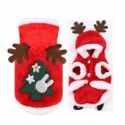 Christmas Dog Clothes Cosplay Winter Santa Elk Coat Clothing Pet Hoodie Jacket Cute Puppy Outfit Christmas Tree_2XL