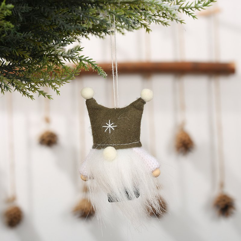 Christmas Doll with Dual Ball Hat Hanging Pendant for Xmas Tree Decoration Kids Gift
