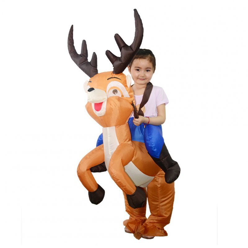 Christmas Elk Inflatable Costume Cartoon Costume Party Styling Props elk_Child