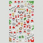 Christmas Halloween Adhesive 3d Nail Sticker Foil For Nails Art Decoration Cartoon Designs Nail Decals F686