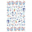 Christmas Halloween Adhesive 3d Nail Sticker Foil For Nails Art Decoration Cartoon Designs Nail Decals F690