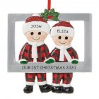 Christmas Hanging Pendant Santa Claus Shape Decoration for Xmas Tree Ornament 2 people