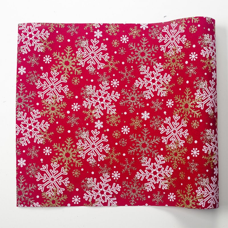 Christmas Holiday Dinning Table Runner Christmas Wedding Table Decoration 270*30cm D red snowflake