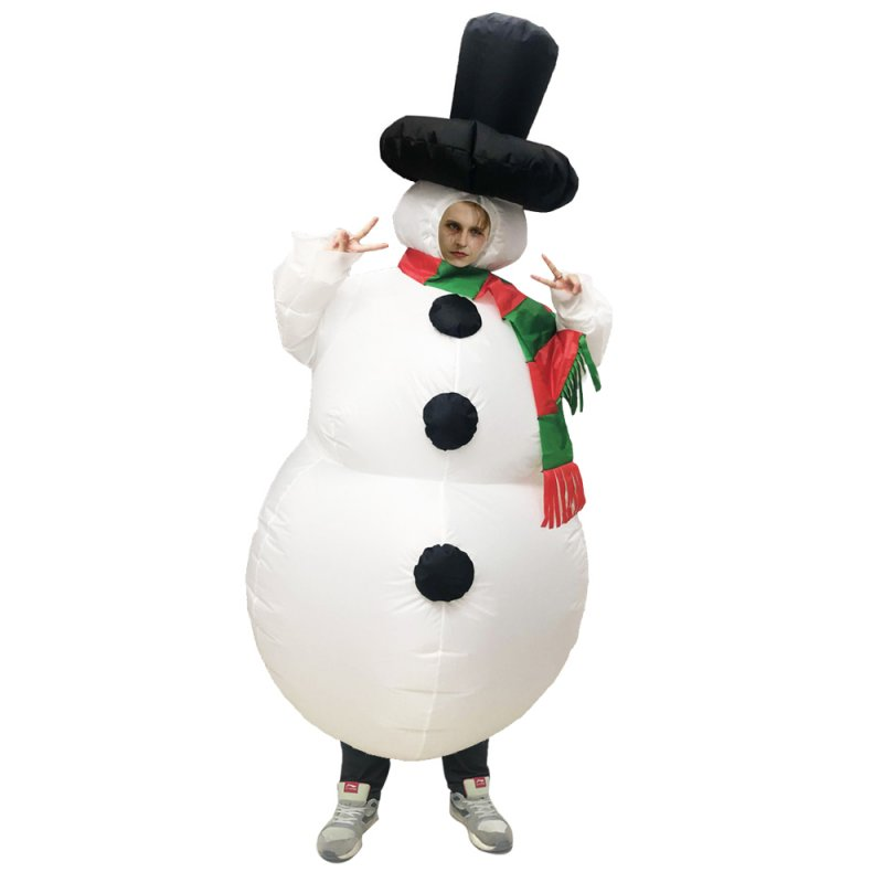 Christmas Inflatable Snowman Costume Suit for Adults Halloween Cosplay Party  adult