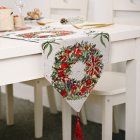 Christmas Long Table Runner Party Dinner Non-slip Cloth Home Decor  Garland