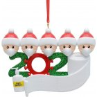 Christmas Ornament Kit DIYName Blessing Hanging Pendant Gift White family of 5