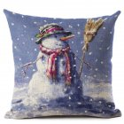 Christmas Pillow Case Snow Series Cushion Cover Flower Seat Cover Home Sofa Decororative Throw Pillow