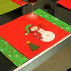 Christmas Placemat Table Runner Mat Cutlery Holder Dinner for Dining Room Hotel Party Decoration