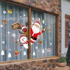 Christmas Santa Claus Removable Wall Stickers PVC Decals DIY Window Showcase Wallpaper 60*90cm